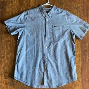 RVCA shirt sleeve button down shirt